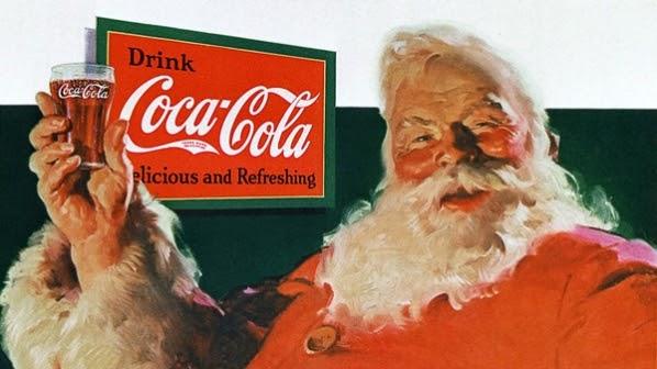 Santa advertisement for Coca-Cola