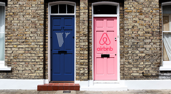Airbnb and Vrbo logos
