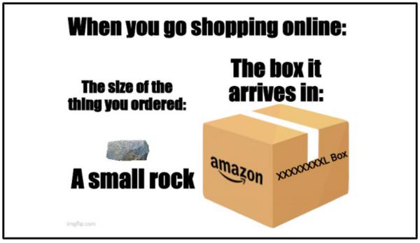 Amazon box meme
