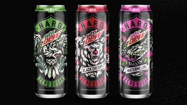 Hard Mtn Dew cans
