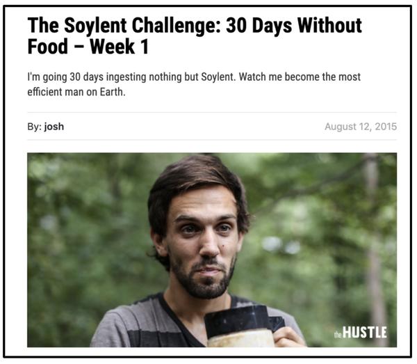 Soylent challenge article
