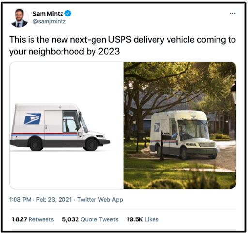 USPS vehicle