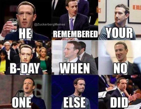 Zuckerberg Birthday meme