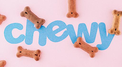 Chewy logo and dog bones