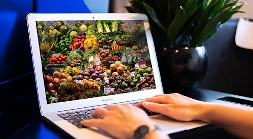 produce on a laptop