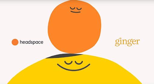 Logos de jengibre y espacio de cabeza