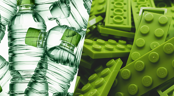 Lego and water bottles