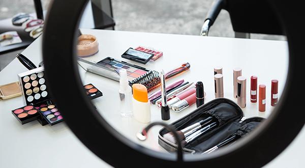 makeup displayed