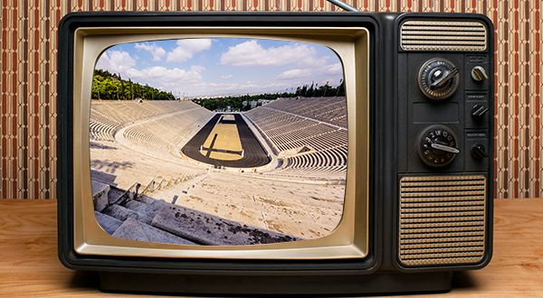 stadium view on a tv