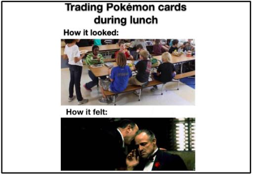 trading pokemon meme