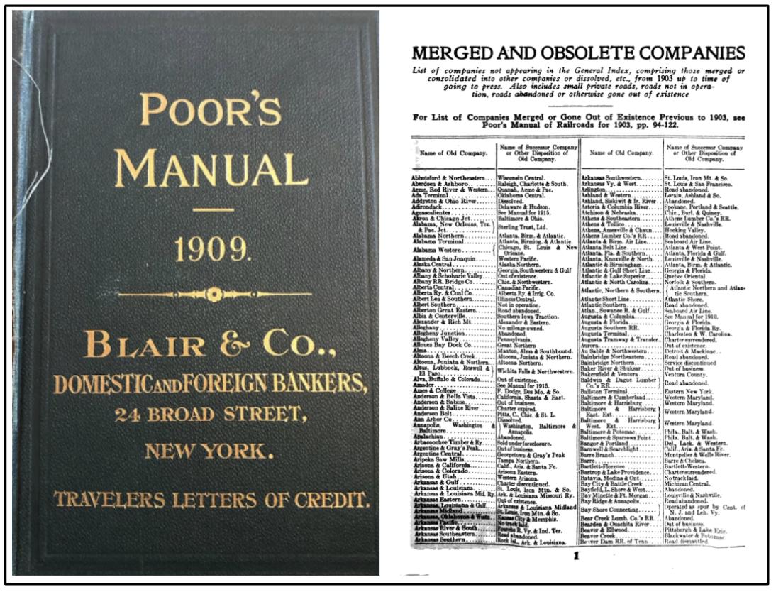 Poor's Manual